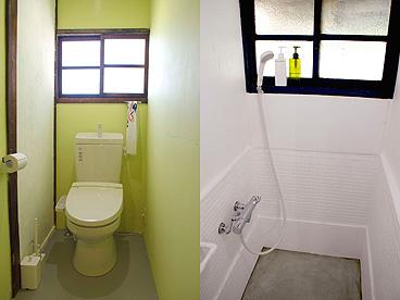 とりいくぐる別館 トイレとシャワー室